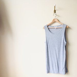 Light Grey Lyocell Tank Dress/Shirt